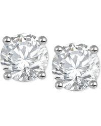 Macy's - Diamond Stud Earrings (1/3 Ct. T.w.) In 14k White Or Yellow Gold - Lyst