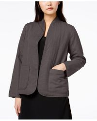 Eileen Fisher - Patch-pocket Quilted Open Jacket - Lyst