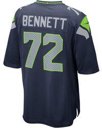 Nike - Men's Michael Bennett Seattle Seahawks Game Jersey - Lyst