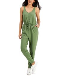 Style & Co. Sleeveless Jumpsuit, Created For Macy's - Green