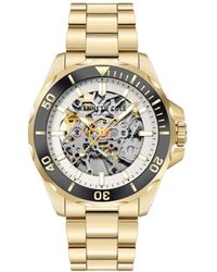 Kenneth Cole Automatic Gold-tone Stainless Steel Bracelet Watch 43mm - Metallic