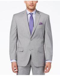 Sean John - Classic-fit Stretch Gray Stripe Suit Jacket - Lyst