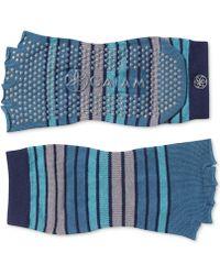 Gaiam - Striped Grippy Toeless Yoga Socks - Lyst