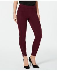 Hue - ® Seamed Zip Skimmer Leggings - Lyst
