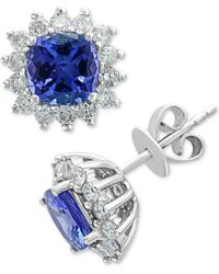 Effy Collection - Effy® Tanzanite (1-9/10 Ct. T.w.) & Diamond (5/8 Ct. T.w.) Stud Earrings In 14k White Gold - Lyst