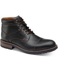 Johnston & Murphy Winstead Cap-toe Boots - Black
