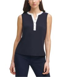 Tommy Hilfiger Button-detail Top - Blue
