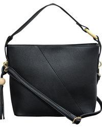 Buxton Bryn Hobo Bag - Black