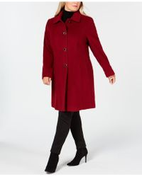 Anne Klein - Plus Size Single-breasted Coat - Lyst