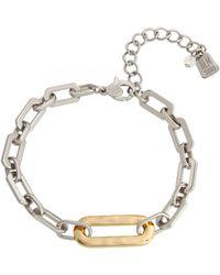Robert Lee Morris Geometric Link Bracelet - Metallic