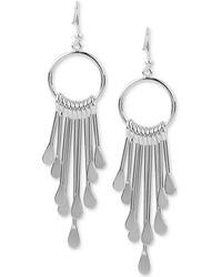Touch Of Silver | Dangling Drop Earrings In Silver-plate | Lyst