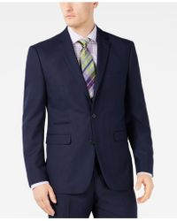 Vince Camuto - Slim-fit Stretch Navy Pindot Suit Jacket - Lyst