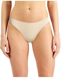 Charter Club Pretty Cotton Thong Underwear, Created For Macy's - Multicolor
