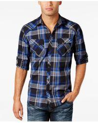 INC International Concepts - Men's Arlington Plaid Shirt - Lyst