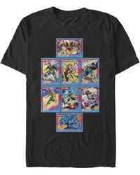 Fifth Sun X-men Core Cards Short Sleeve Crew T-shirt - Black