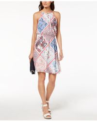 Tommy Hilfiger - Printed Cutaway Dress, Created For Macy's - Lyst