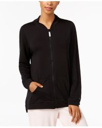 Hue - ® Solid Zipper-front Pajama Top - Lyst