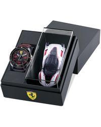 Ferrari Xx Kers Black Nylon Strap Watch 44mm Gift Set