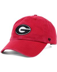 8424ab8ea3d Lyst - 47 Brand Dayton Flyers Ncaa Clean-up Cap in Red for Men