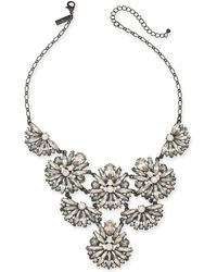 """INC International Concepts - I.n.c. Black-tone Crystal Cluster Statement Necklace, 17"""" + 3"""" Extender, Created For Macy's - Lyst"""