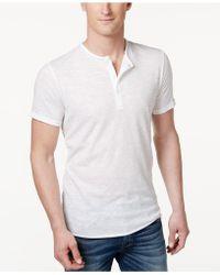 American Rag | Men's Henley T-shirt | Lyst