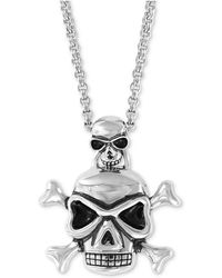 """Effy Collection - Skull Pendant Necklace, 20"""" + 2"""" Extender In Sterling Silver - Lyst"""