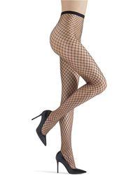 Memoi Maxi Fishnet Stockings - Black