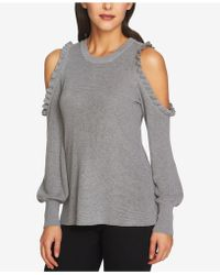 1.STATE - Cotton Cold-shoulder Bubble-sleeve Jumper - Lyst