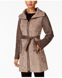 Vince Camuto - Faux-shearling Walker Coat - Lyst