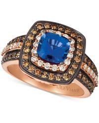 Le Vian - ® Ceylon Sapphire (1 Ct. T.w.) & Diamond (7/8 Ct. T.w.) Ring In 14k Rose Gold - Lyst