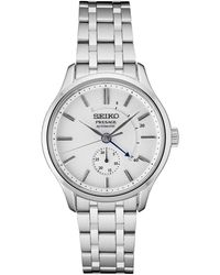 Seiko Automatic Presage Stainless Steel Bracelet Watch 42mm - Metallic