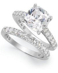 Arabella - Sterling Silver Ring Set, Swarovski Zirconia Bridal Ring And Band Set (8 Ct. T.w.) - Lyst