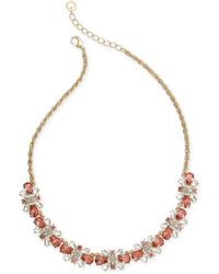 """Charter Club - Multi-crystal Cluster Collar Necklace, 16"""" + 2"""" Extender, Created For Macy's - Lyst"""
