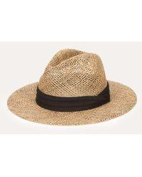 San Diego Hat Company Seagrass Panama Fedora - Black