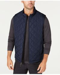 Hawke & Co. Quilted Vest, Created For Macy's - Blue