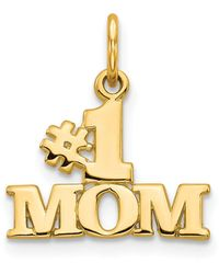 Macy's - Number 1 Mom Charm In 14k Yellow Gold - Lyst