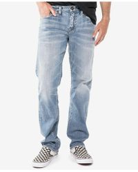 Silver Jeans Co. - Eddie Relaxed Athletic Fit Tapered Stretch Jeans - Lyst