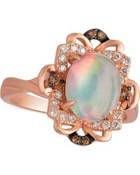 Le Vian | Opal (1-1/5 Ct. T.w.) And Diamond (1/6 Ct. T.w.) Ring In 14k Rose Gold | Lyst
