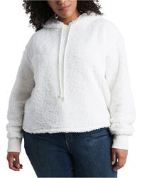 1.STATE Plus Size Teddy Hoodie - Gray