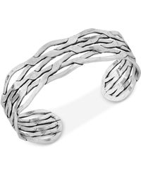 Lucky Brand | Silver-tone Twisted Cuff Bracelet | Lyst