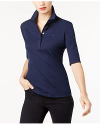 Lacoste - Elbow-sleeve Polo Shirt - Lyst