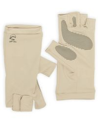 Sunday Afternoons Uv Shield Cool Fingerless Gloves - Natural