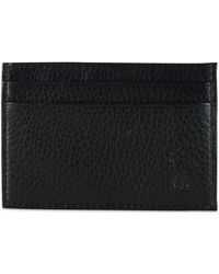 Polo Ralph Lauren - Wallet, Pebbled Credit Card Case And Money Clip - Lyst