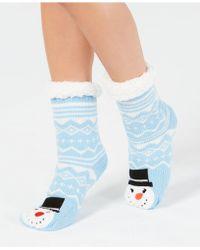 Charter Club Snowman Slipper Socks, Created For Macy's - Blue