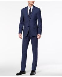 Calvin Klein - Skinny Fit Infinite Stretch Navy Neat Suit - Lyst