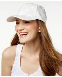 BCBGeneration Polka Dot Baseball Hat - White