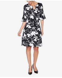 Ruby Rd. Plus Size Drs Bar Wildflower Dress - Black