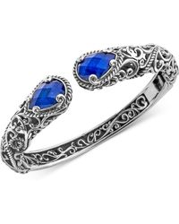 Carolyn Pollack - Lapis Lazuli Doublet Filigree Bangle Bracelet (12 Ct. T.w.) In Sterling Silver - Lyst