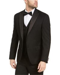 Alfani Slim-fit Tuxedo Jackets, Created For Macy's - Black