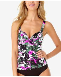beaa0210e7 Lyst - Miraclesuit Cross-over D-cup Bra-sized Underwire Tankini Top ...